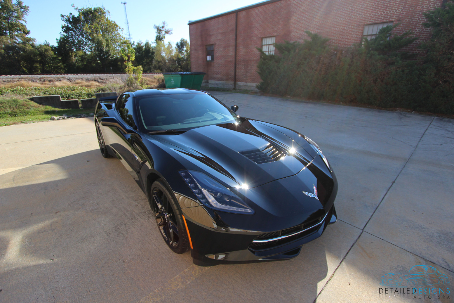 Corvette with Clear Bra installed in Conyers, GA.